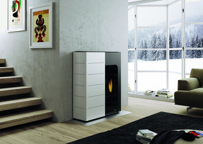 stufa a pellet palazzetti 12 kw canalizzata. Black Bedroom Furniture Sets. Home Design Ideas